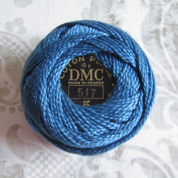 DMC Size 5 Perle Cotton Thread | 517 Dk Wedgewood