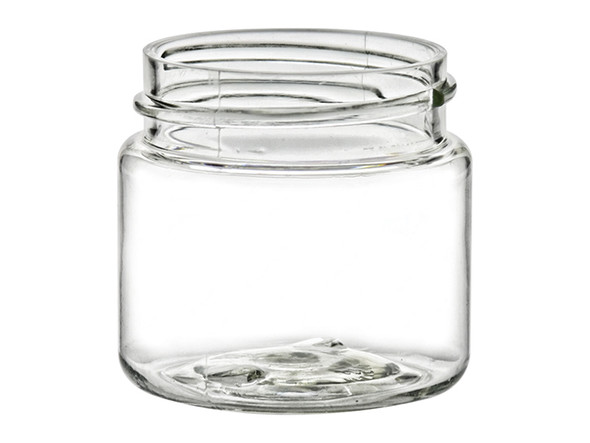Nakpunar 1 oz Clear Single Wall Plastic Jar