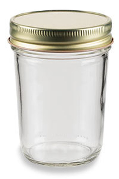 8 oz Mason Glass Jar with Lids - Choose from Flat, Safety Button, Straw Hole, Daisy Cut, Spice Caps