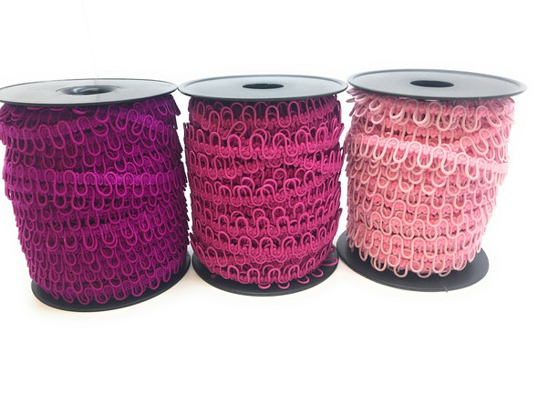 Nakpunar Shades of Pink Adjacent Elastic Bridal Button Loops