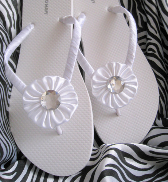 Snow White Wedding Flip Flops / Bride and Bridesmaids flip flops