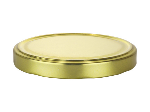 63TW Gold metal lids with plastisol liner for glass jars