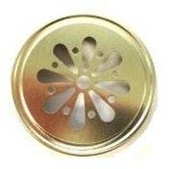 Gold  Color Mason Jar Lids with Daisy shape die cut