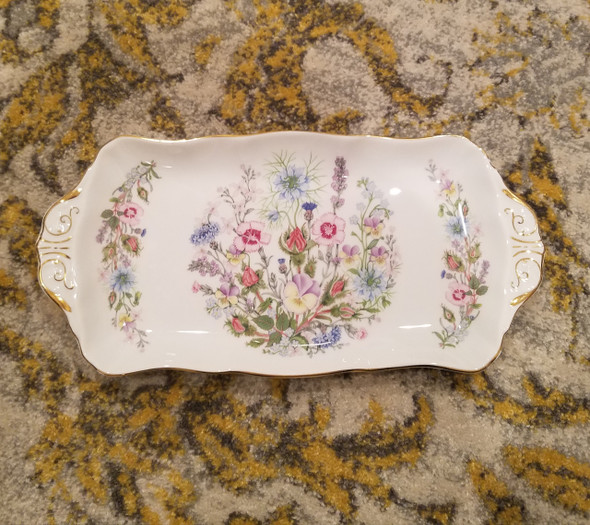 Aynsley Wild Tutor Large Fine China Sandwich Tray