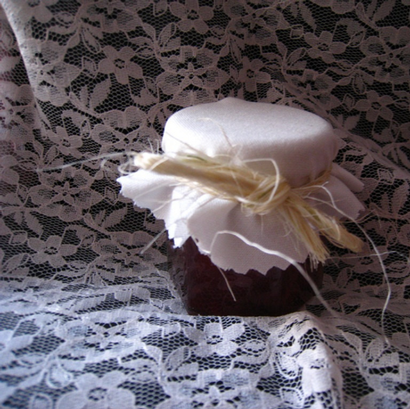 Muslin Fabric Jar Covers with Twine Tie