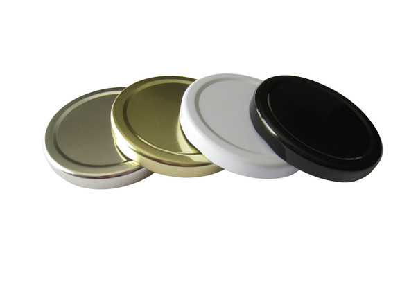 70TW Gold, White, Black, Silver Metal Lids