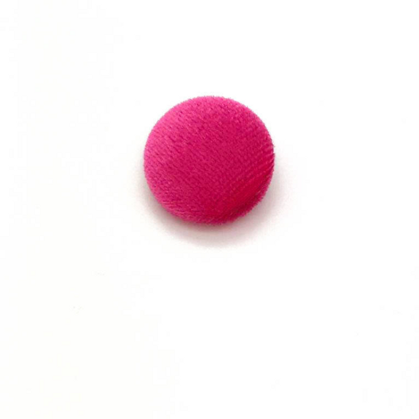 "Lot of 10, 5/8"" (15 mm)  Rose Pink Velvet Button"