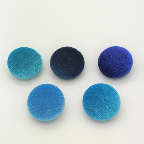 These Blue Velvet Shanks buttons are made with nice soft velvet fabric. This color is a shade of pinks. Other sizes are available in my store. Great for your bridal gown and accessories. Mix & Match available for different kind colors and sizes.  Custom orders are always welcome! I can cover the buttons with your fabric too!