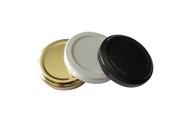 Nakpunar Plastisol Lined 53TW lug lids in gold, white, black