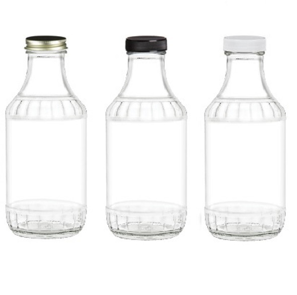 Nakpunar 16 fl oz Clear Decanter style sauce glass bottle