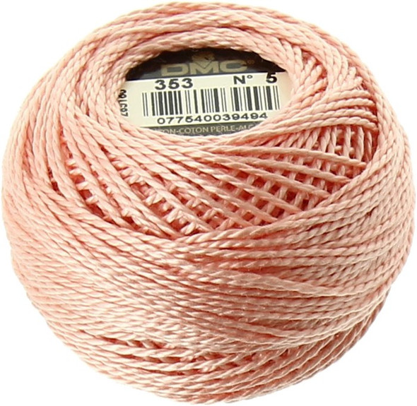 DMC Size 5 Perle, Pearl Cotton Thread Ball | 436 Tan (116 5-436)
