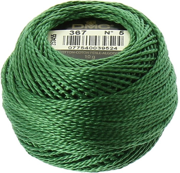 DMC #5 Perle Cotton Thread Ball | 367 Dark Pistachio Green (116 5-367)