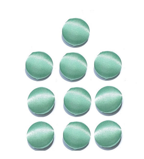"""Mint Green Satin Buttons in 3/4"""", 19mm, 30L"""