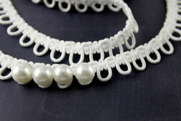 Elastic bridal button loops and pearl buttons by www.nakpunar.com