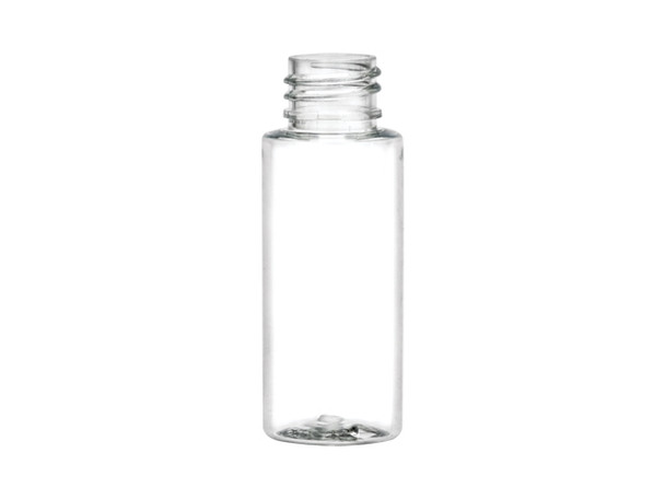 1 oz PET Clear Cylinder round Plastic Bottle with 20/410 finish