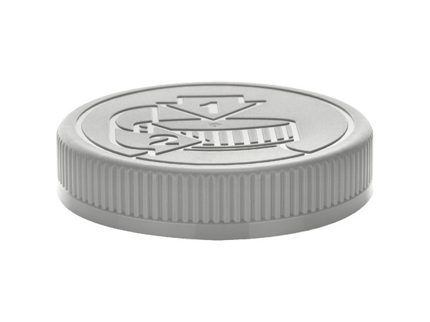 Regular Mouth 70/450 Gray Silver Child Resistant Cap- HEAT SEAL LINER