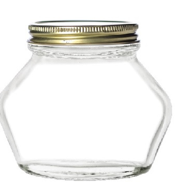 Perfectly Unperfect lids - 2 oz Elephant Glass Jars with Gold Lids