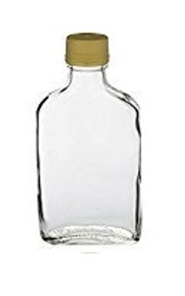 Nakpunar 200 ml 6.6 fl oz Glass Flask Bottle with gold tamper evident cap