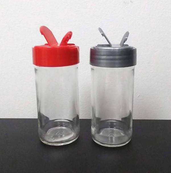 4 oz Glass Straight Sided Spice Jars with Your Choice of Lids