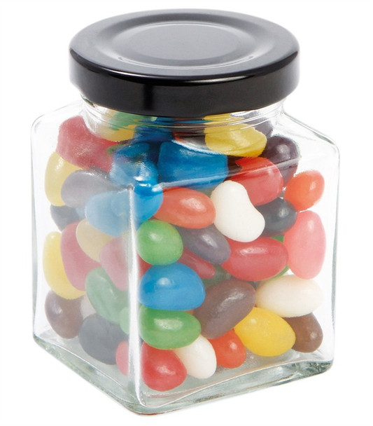 6 oz Cube Square Glass Jars for Candies  by Nakpunar