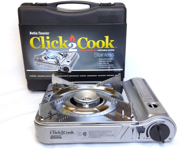 Bella Tavola BT-5000 Click2Cook Stainless Butane Powered Portable Stove