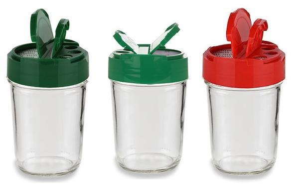 Value Pack of 30 -  Plastic Regular Mouth Mason Jar Spice Dispenser Cap 70/450