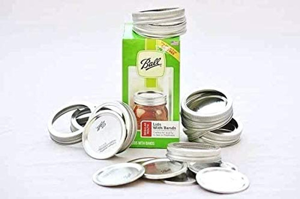 12 pcs Ball Regular Mouth Jar Lids - Disc Lids and Ring Bands - 70/450