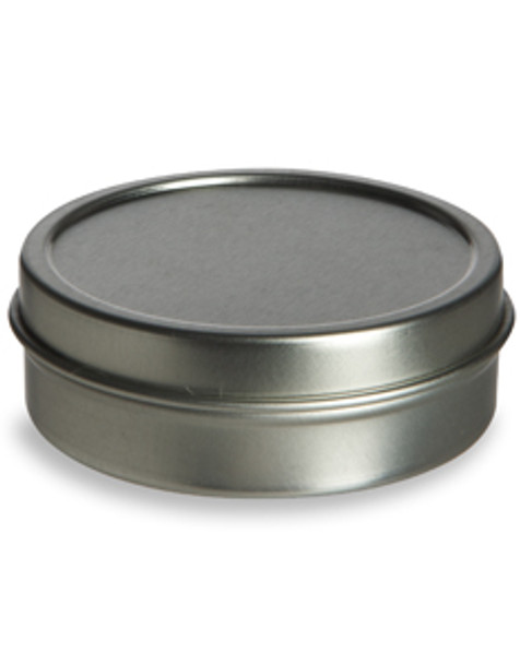 1 pc Tin Flat Container  2oz w/ Cover