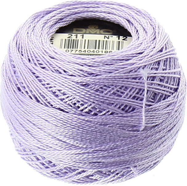 DMC  Perle Cotton Thread Ball | Size 12 | 211 Lt Lavender