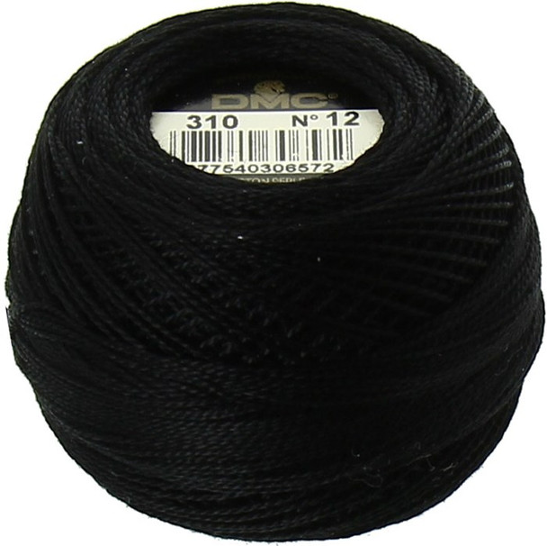 DMC  Perle Cotton Thread Ball | Size 12 | 310 Black