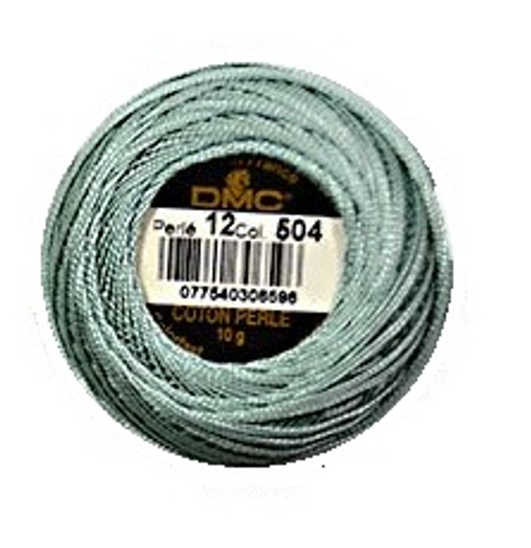 DMC 504 V Lt Blue Green Size 12 Perle Cotton Embroidery Ball