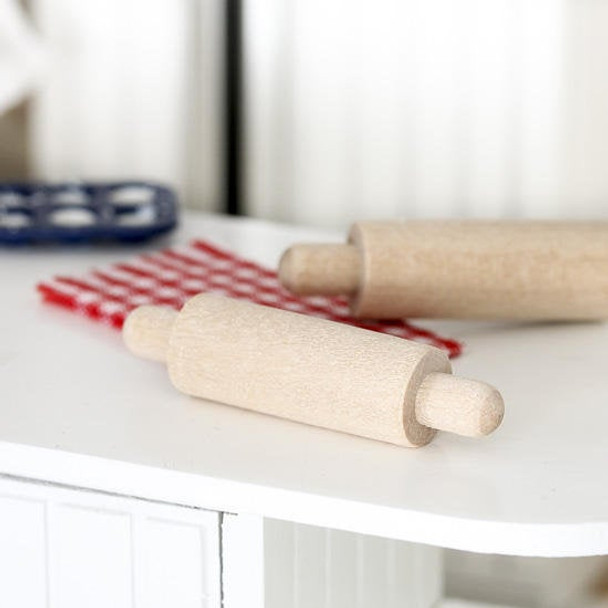 Nakpunar Unfinished wood rolling pins, miniature for doll houses, toys