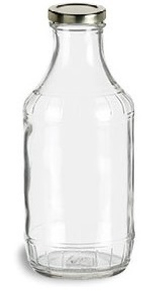 16 oz Glass Decanter bottle with twist off lug lid