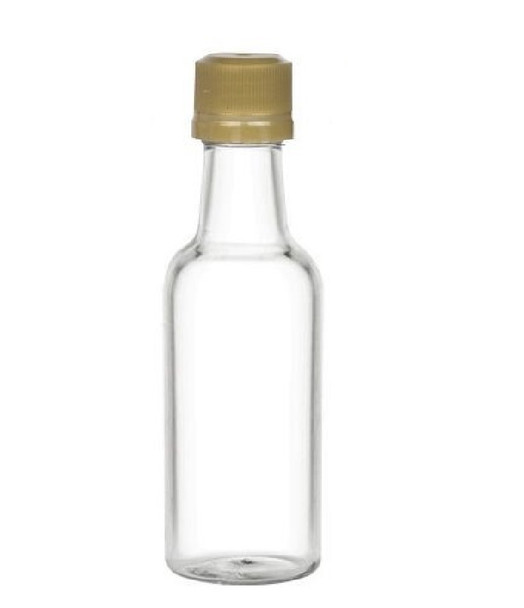 50 ml Plastic Liquor Bottles with Gold Cap