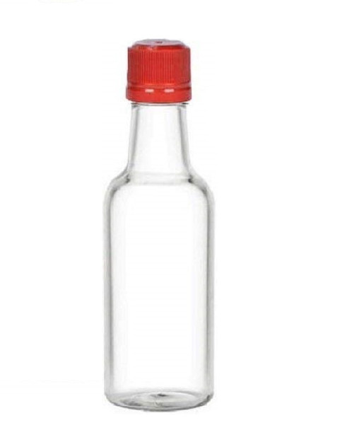 50 ml Plastic Liquor Bottles with Red Cap