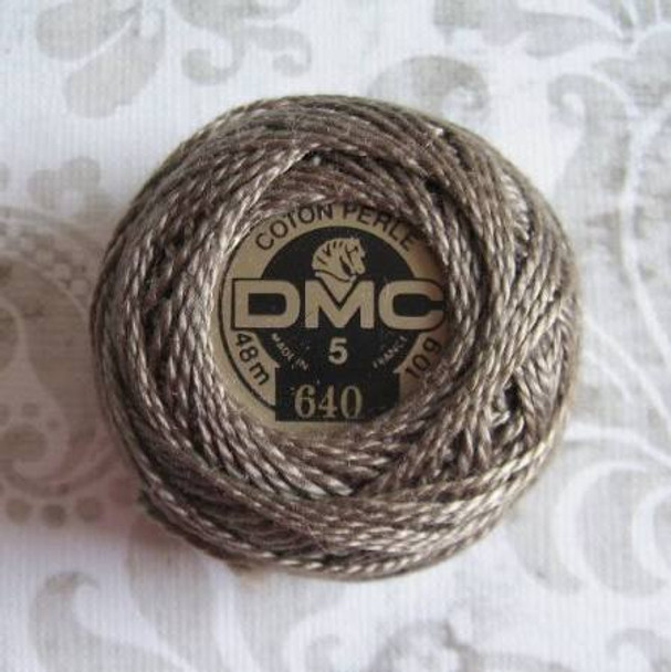 DMC #5 Perle Cotton Thread | 640 Very Dark Beige Gray by Nakpunar.