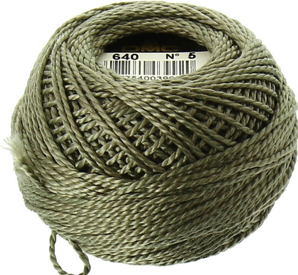 DMC #5 Perle Cotton Thread | 640 Very Dark Beige Gray