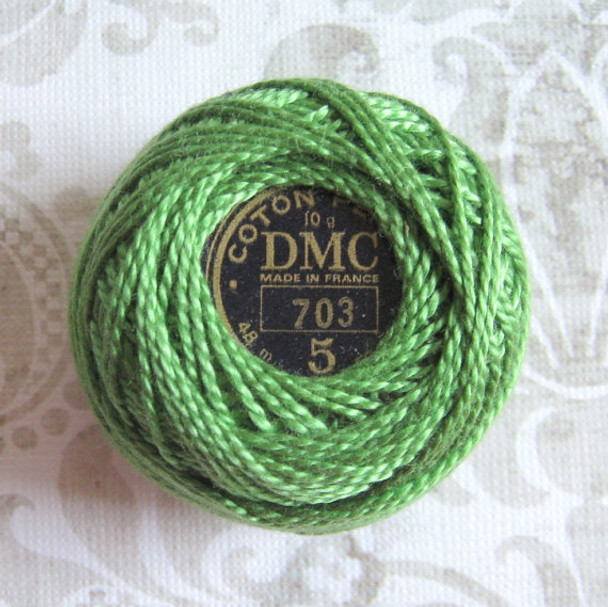DMC #5 Perle Cotton Thread| 703 Chartreuse by Nakpunar.