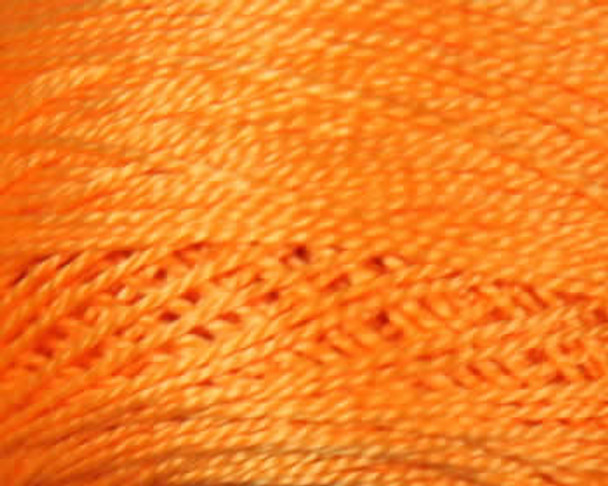 DMC Pearl, Perle Cotton Thread Ball | Size 5 |741 Medium Tangerine by Nakpunar.