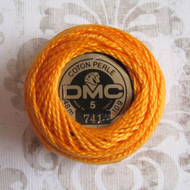DMC #5 Perle Cotton Thread |741 Medium Tangerine by Nakpunar.