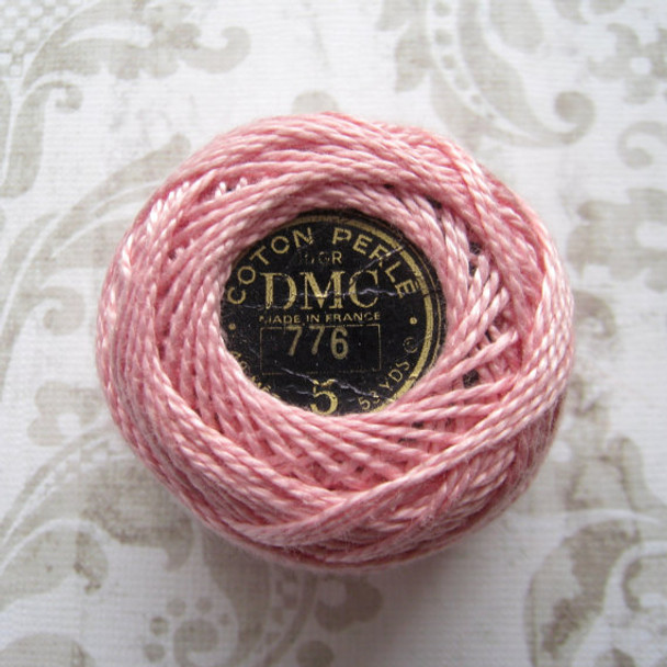 DMC #5 Perle Cotton Thread | 776 Mk Ink by Nakupnar.