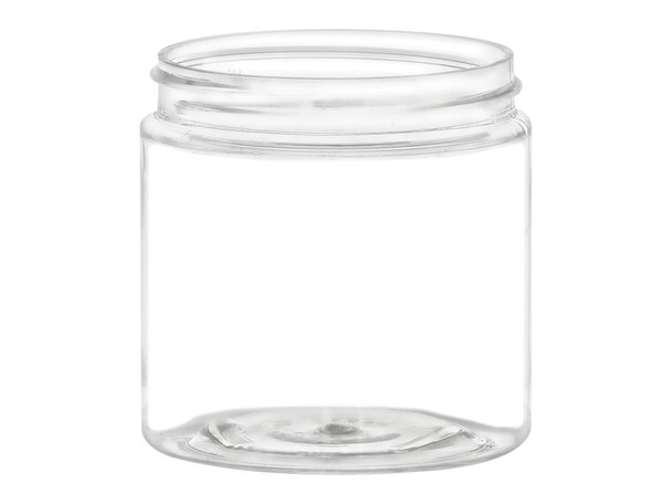 4 oz Clear Single Wall Plastic Jar with Your Choice of Lid
