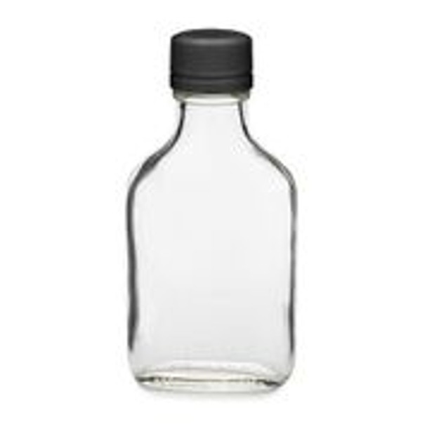 Nakpunar 100 ml 3.4 oz glass flask liquor bottles with caps