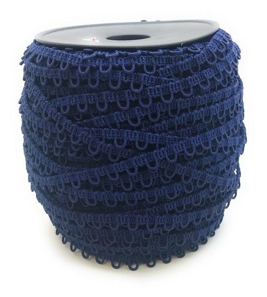 Navy Blue Adjacent Elastic Bridal Button Loops