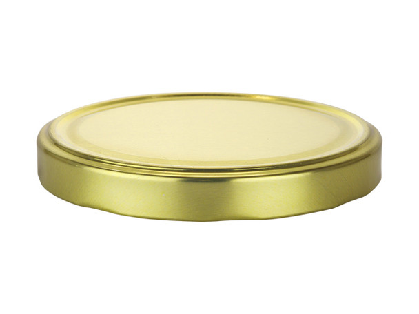 89TW Gold metal lids with plastisol liner for glass jars