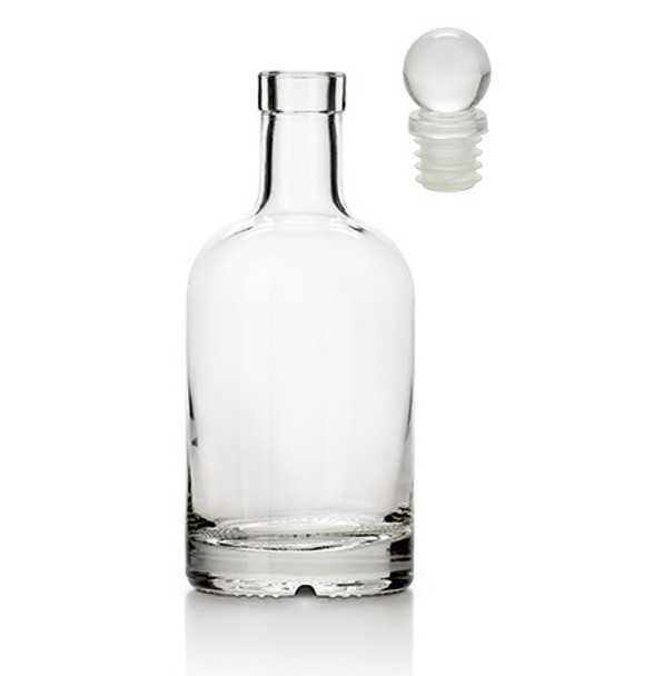 12 oz Nordic Liquor Bottle with Glass Stoppers