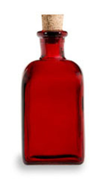 Red 8 oz recycled Spanish Taverna Glass Bottle with Cork
