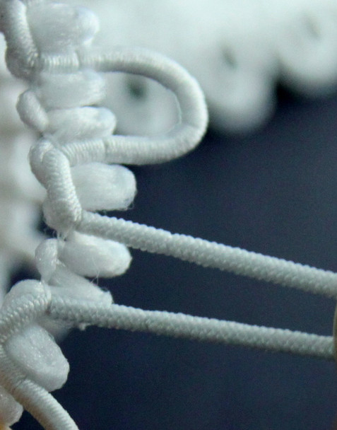 Your source for ivory bridal button loops.