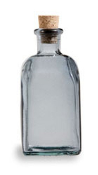 Smoke Gray 8 oz recycled Spanish Taberna Glass Bottle with Cork
