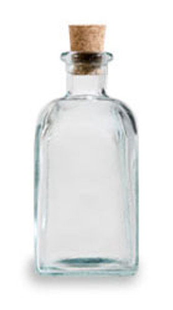Clear 8 oz recycled Spanish Taberna Glass Bottle with Cork